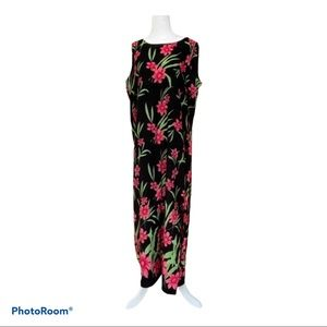 JM COLLECTION Sleeveless Floral MAXI DRESS size 14